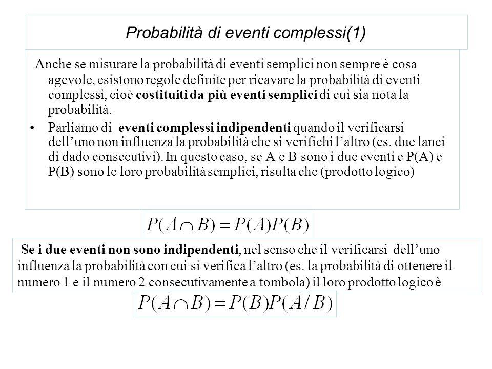 Probabilità di eventi complessi(1)