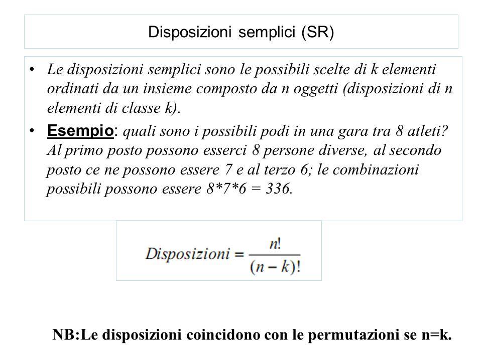 Disposizioni semplici (SR)