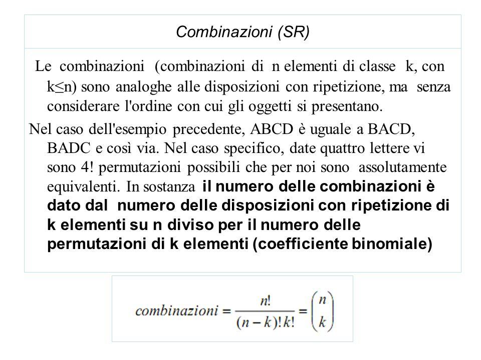 Combinazioni (SR)