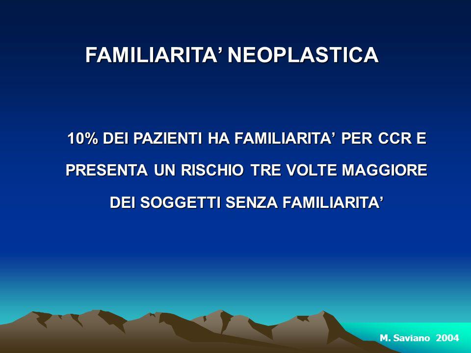 FAMILIARITA' NEOPLASTICA