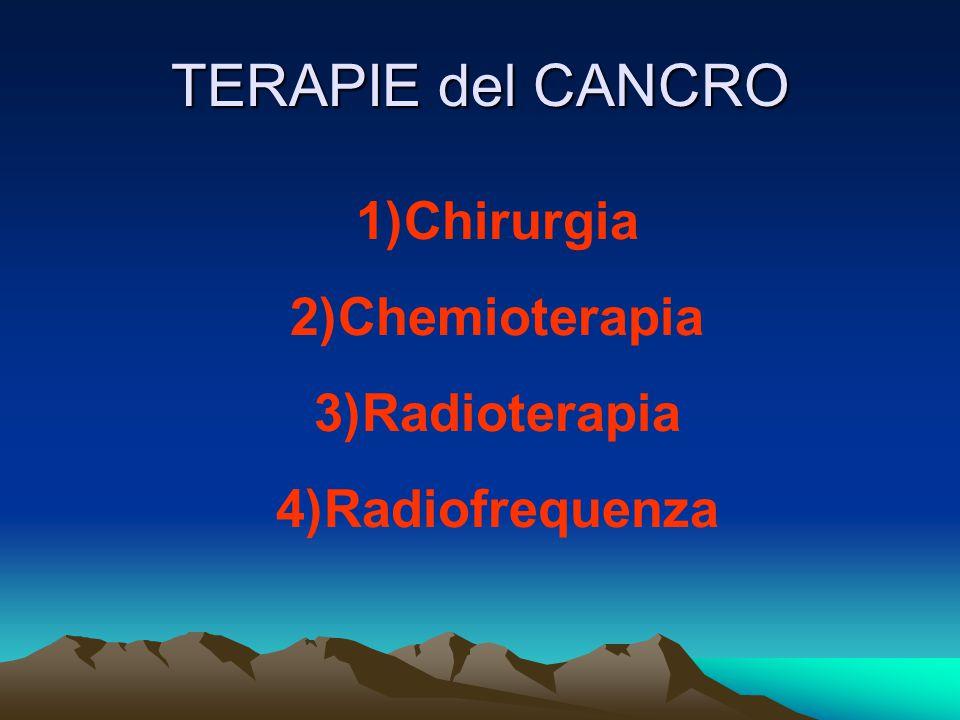 TERAPIE del CANCRO Chirurgia Chemioterapia Radioterapia Radiofrequenza