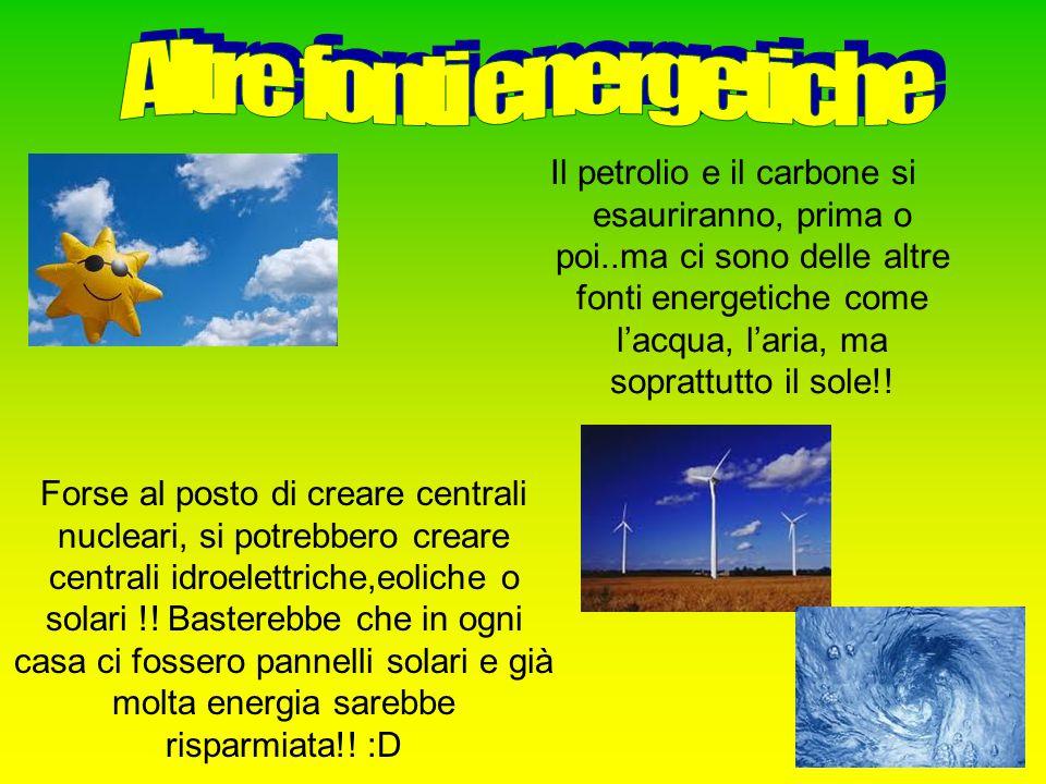 Altre fonti energetiche