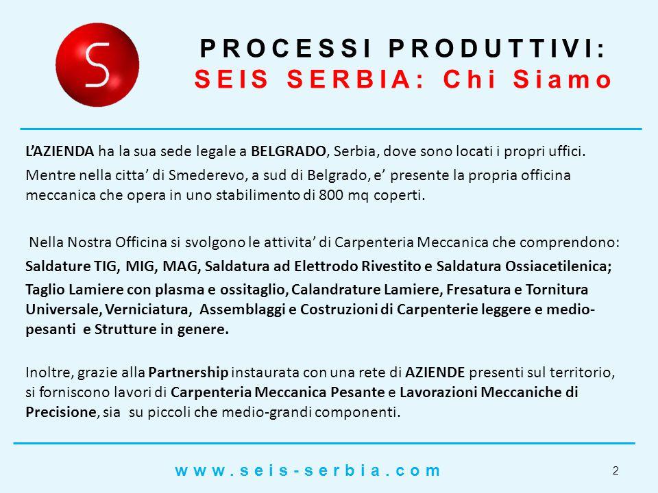 PROCESSI PRODUTTIVI: SEIS SERBIA: Chi Siamo