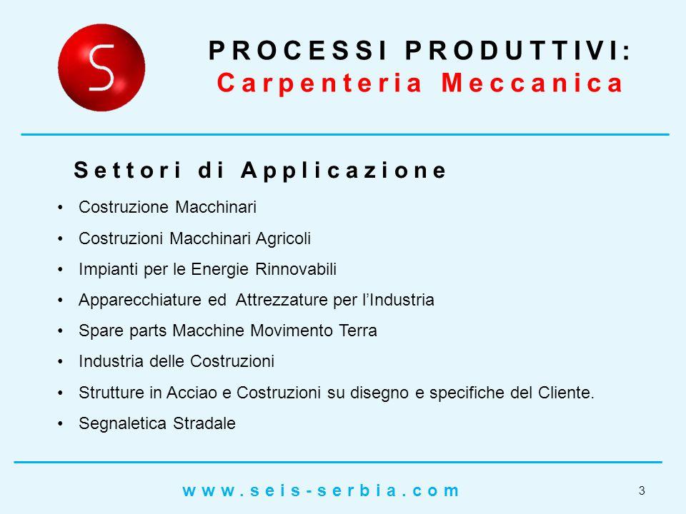 PROCESSI PRODUTTIVI: Carpenteria Meccanica