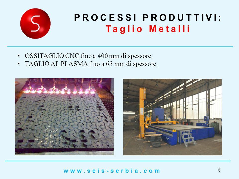 PROCESSI PRODUTTIVI: Taglio Metalli