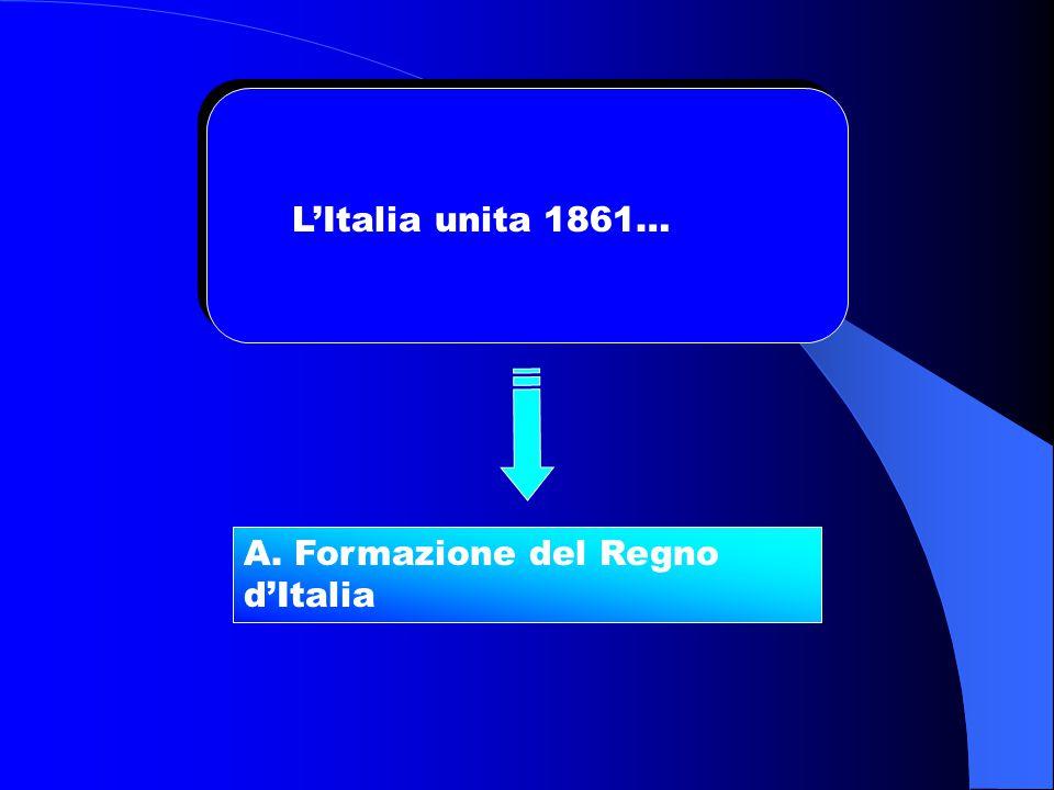 L'Italia unita 1861… A. Formazione del Regno d'Italia