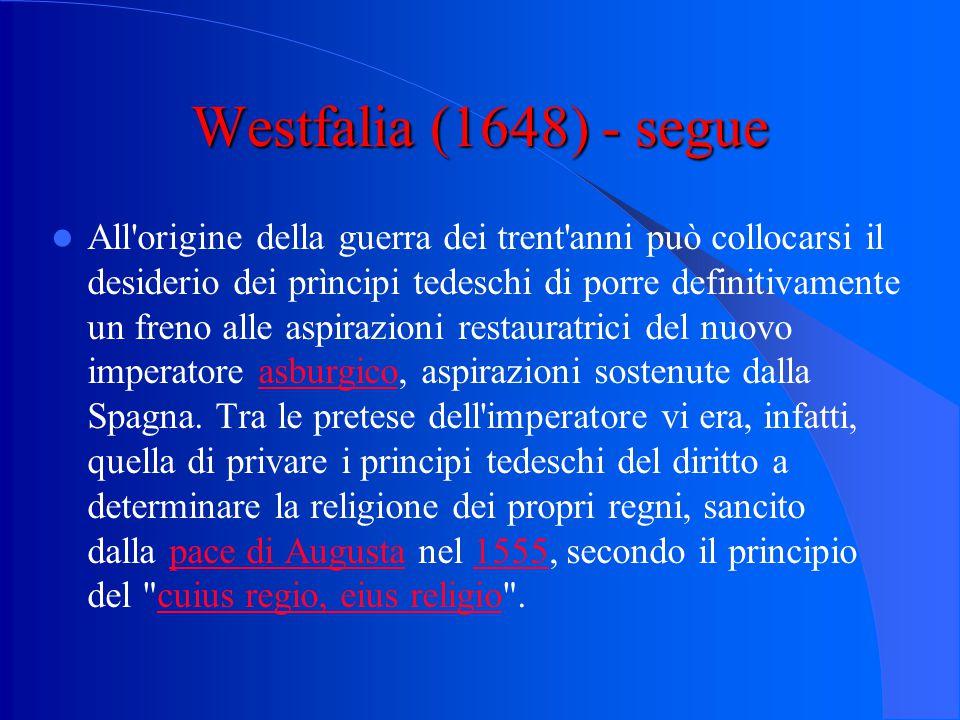 Westfalia (1648) - segue