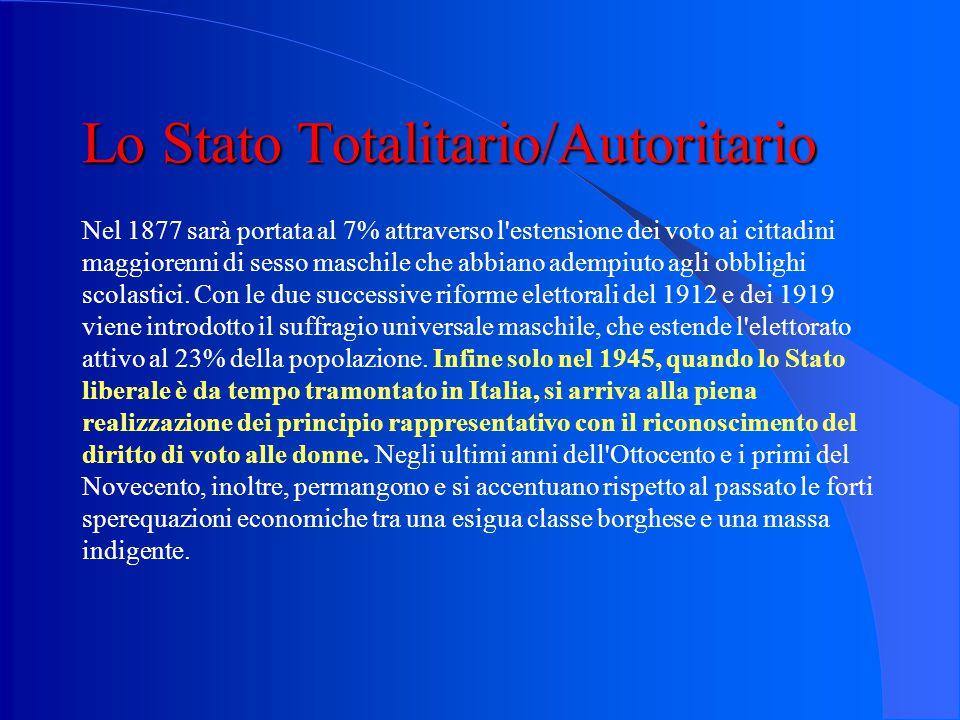 Lo Stato Totalitario/Autoritario