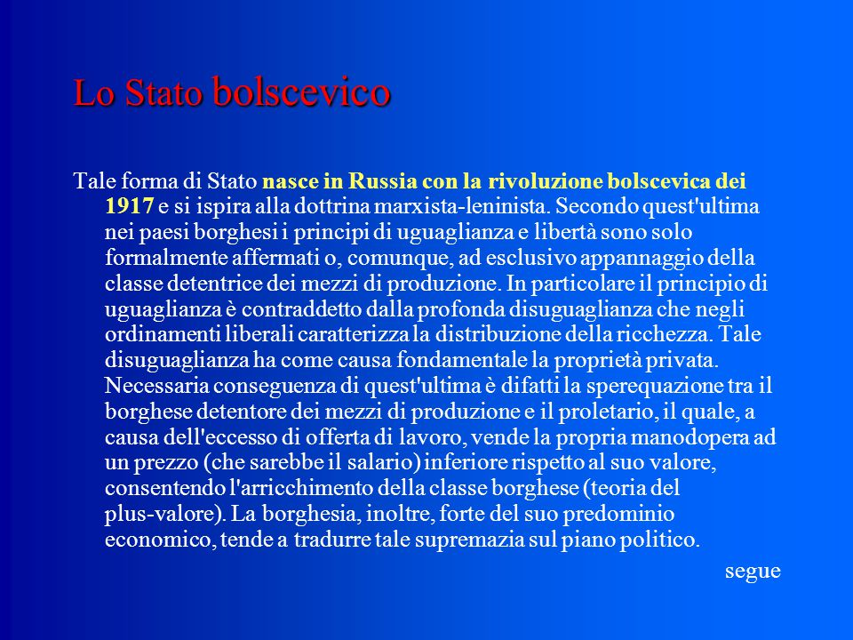Lo Stato bolscevico