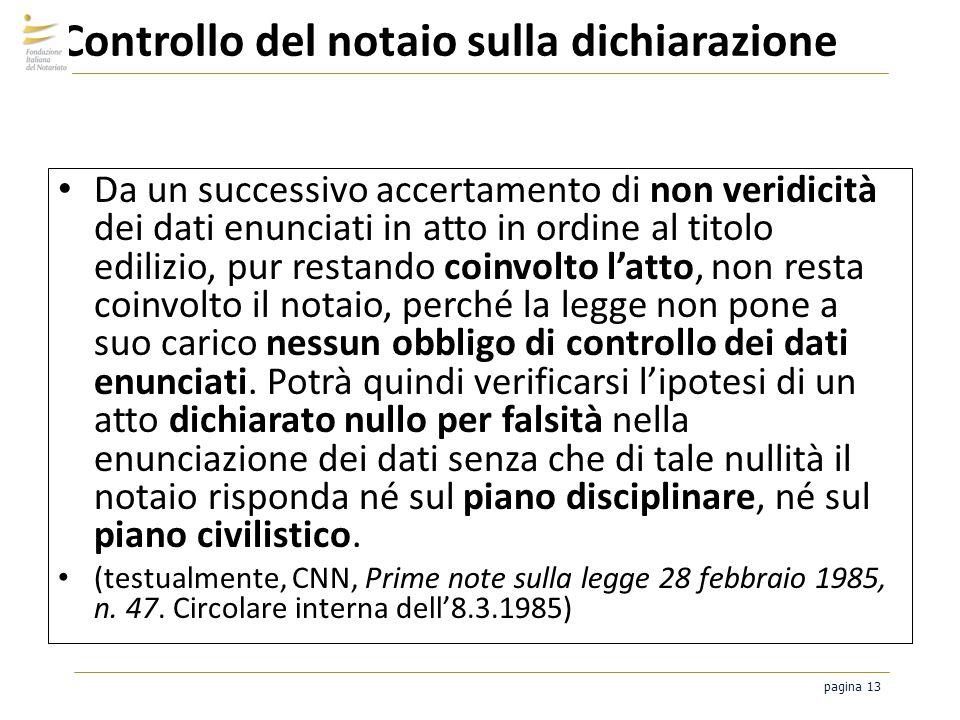 Controllo del notaio sulla dichiarazione