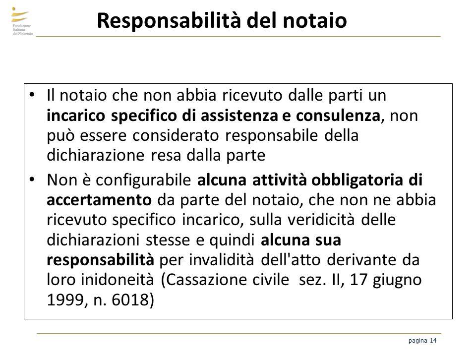 Responsabilità del notaio