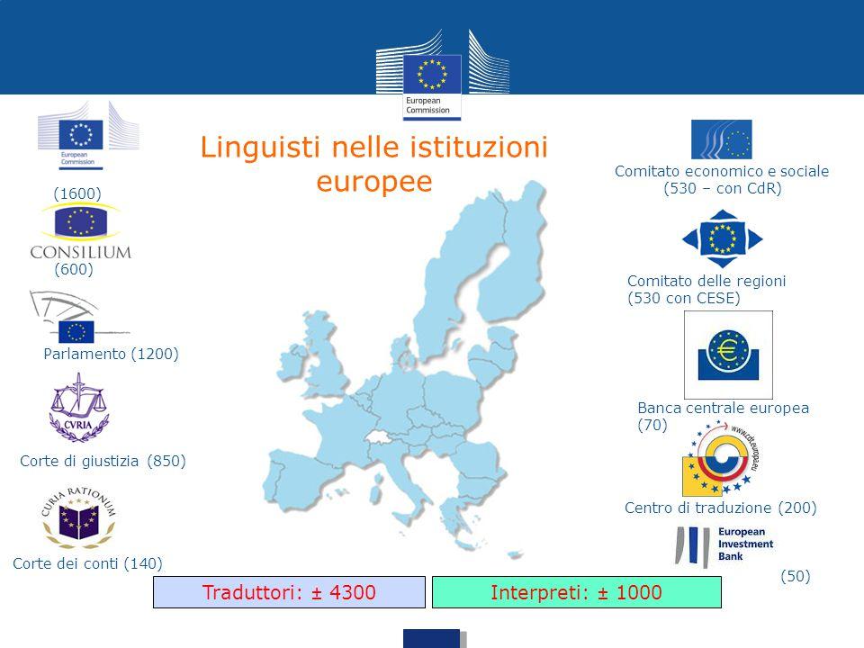 Linguisti nelle istituzioni europee