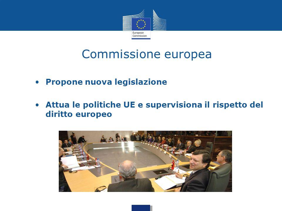 Commissione europea Propone nuova legislazione