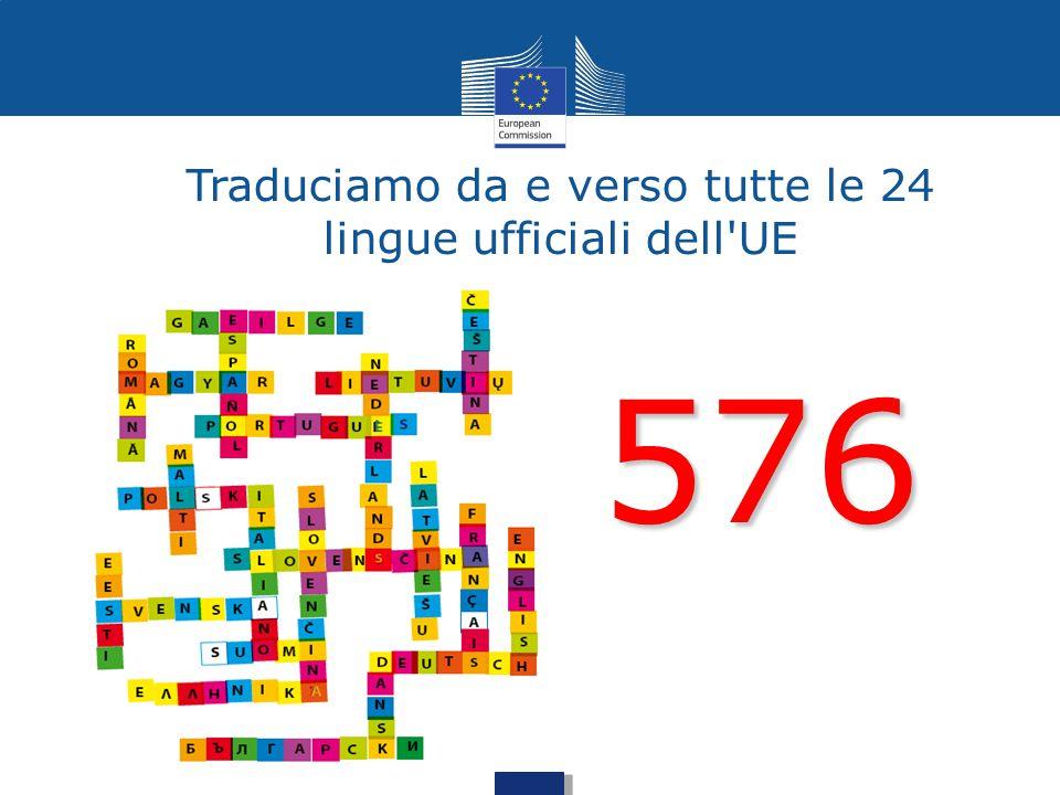 Traduciamo da e verso tutte le 24 lingue ufficiali dell UE