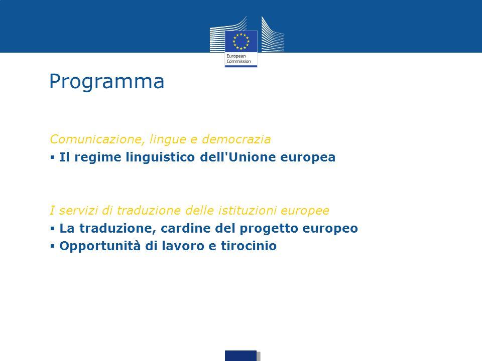 Programma Comunicazione, lingue e democrazia
