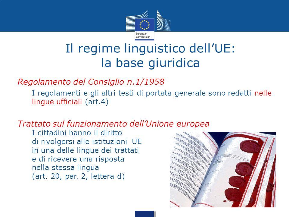 Il regime linguistico dell'UE: la base giuridica