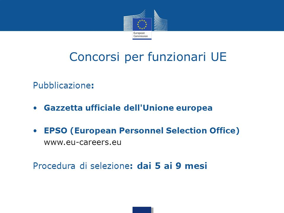 Tradurre per l 39 europa opportunit formazione - European personnel selection office epso ...