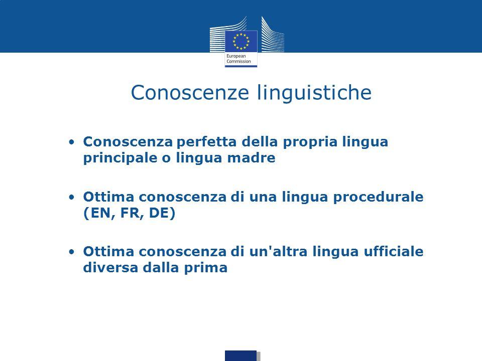 Conoscenze linguistiche