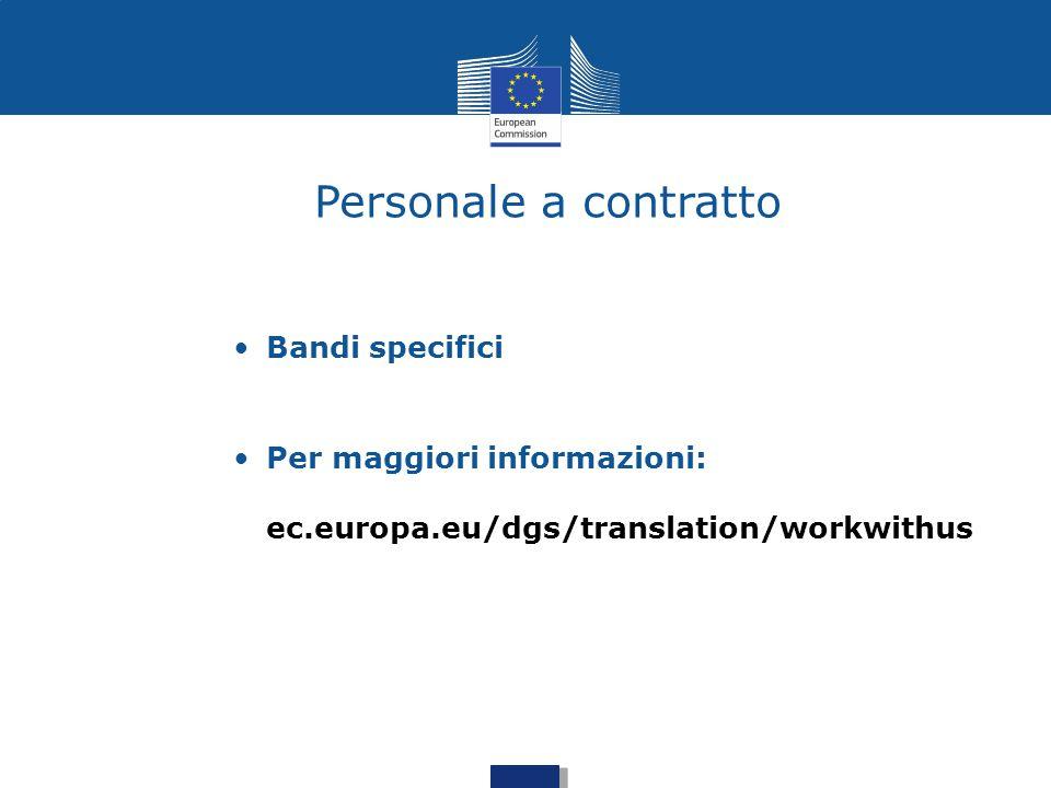 Personale a contratto Bandi specifici