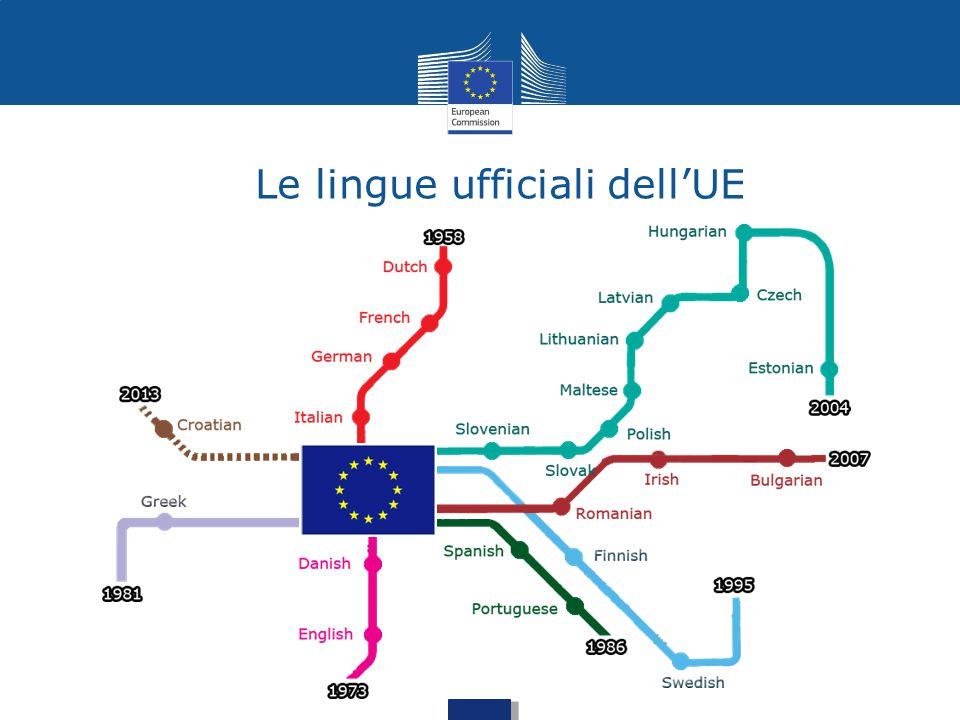 Le lingue ufficiali dell'UE