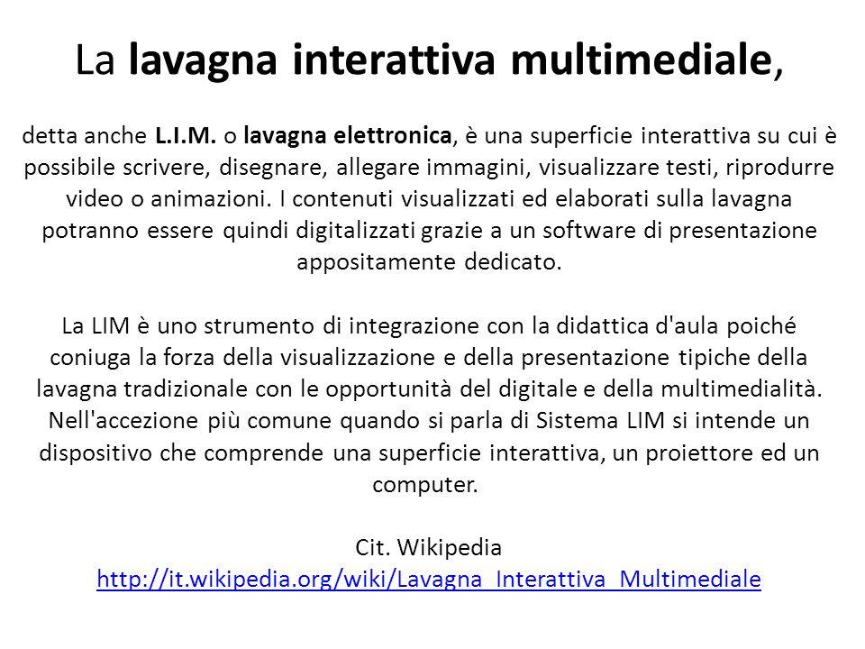 La lavagna interattiva multimediale,