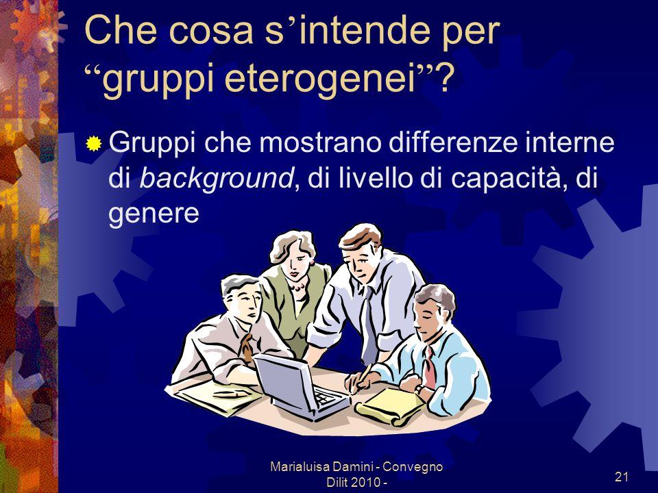 Che cosa s'intende per gruppi eterogenei