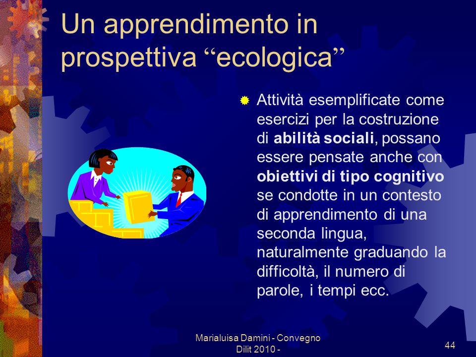 Un apprendimento in prospettiva ecologica