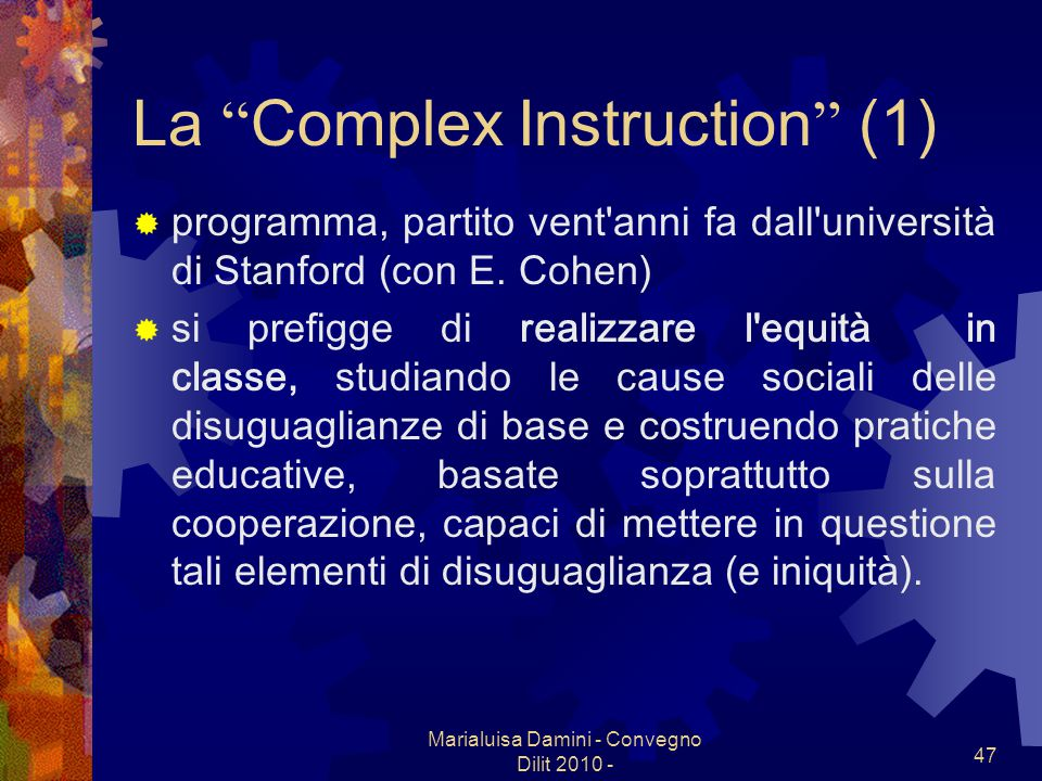 La Complex Instruction (1)