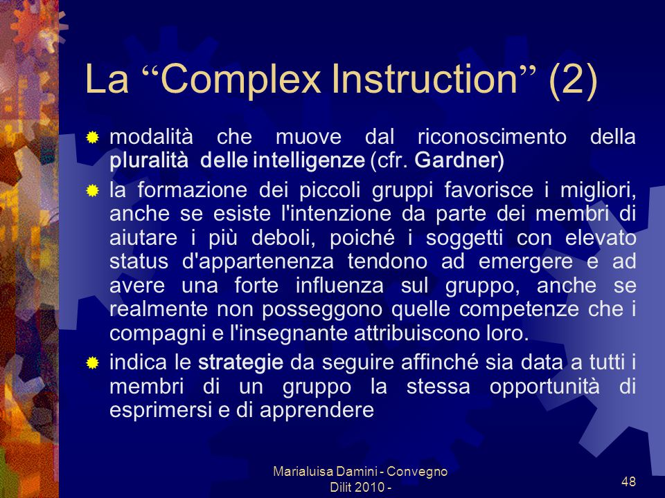 La Complex Instruction (2)