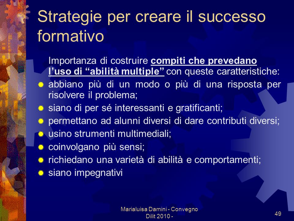 Strategie per creare il successo formativo