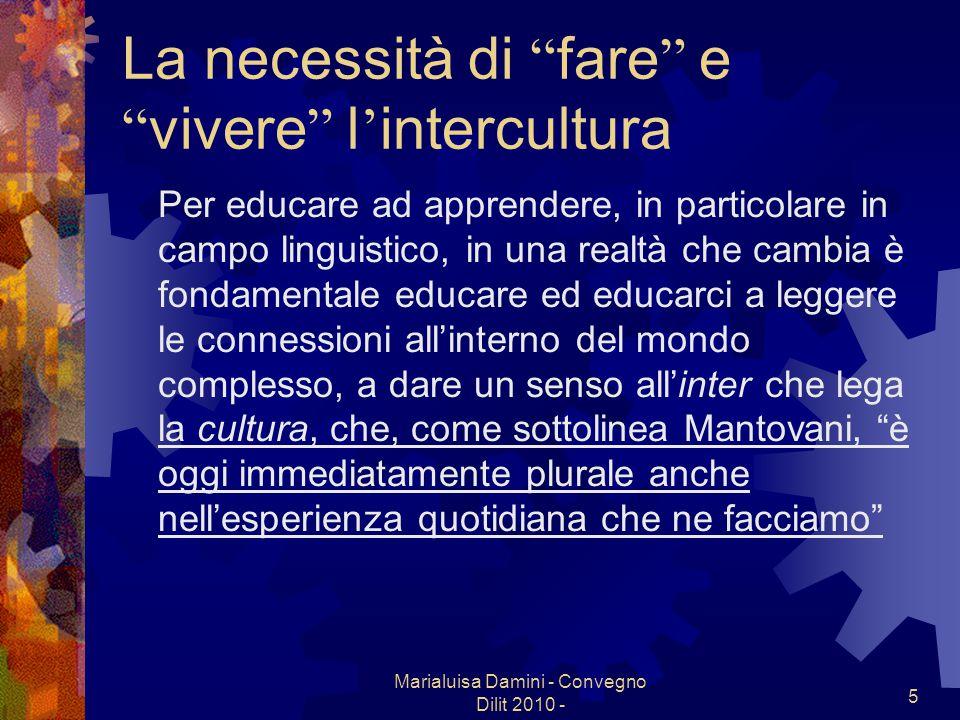 La necessità di fare e vivere l'intercultura