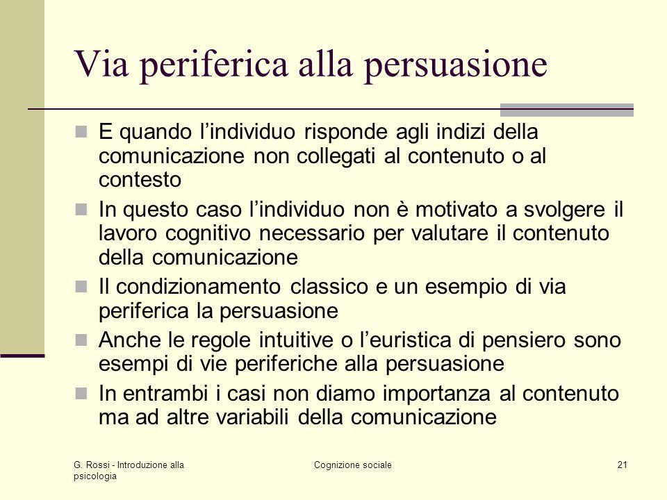 Via periferica alla persuasione