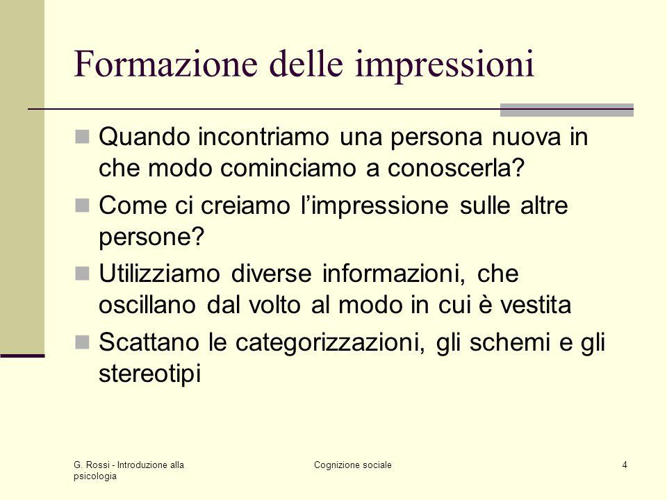 Formazione delle impressioni