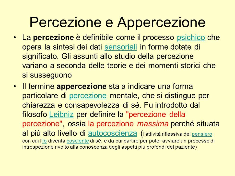 Percezione e Appercezione
