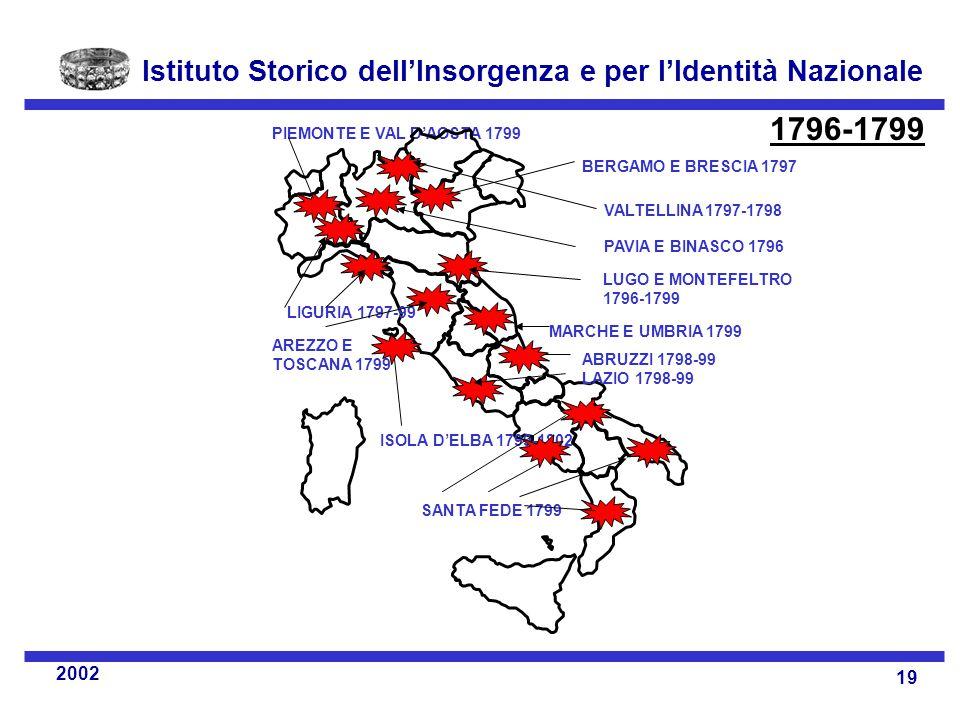 1796-1799 PIEMONTE E VAL D'AOSTA 1799 BERGAMO E BRESCIA 1797