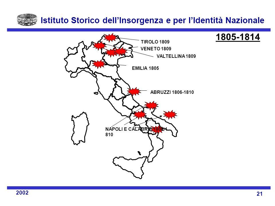 1805-1814 TIROLO 1809 VENETO 1809 VALTELLINA 1809 EMILIA 1805