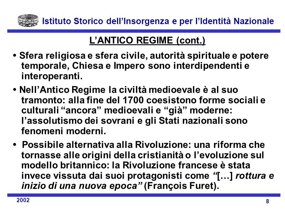 L'ANTICO REGIME (cont.)