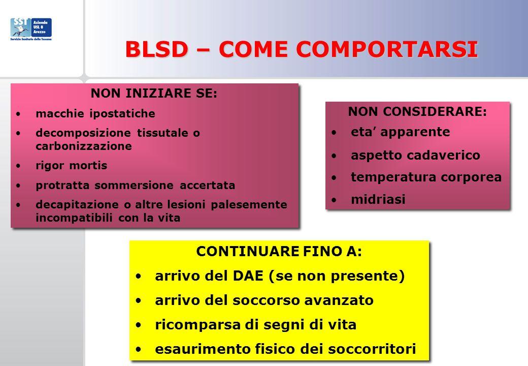 BLSD – COME COMPORTARSI