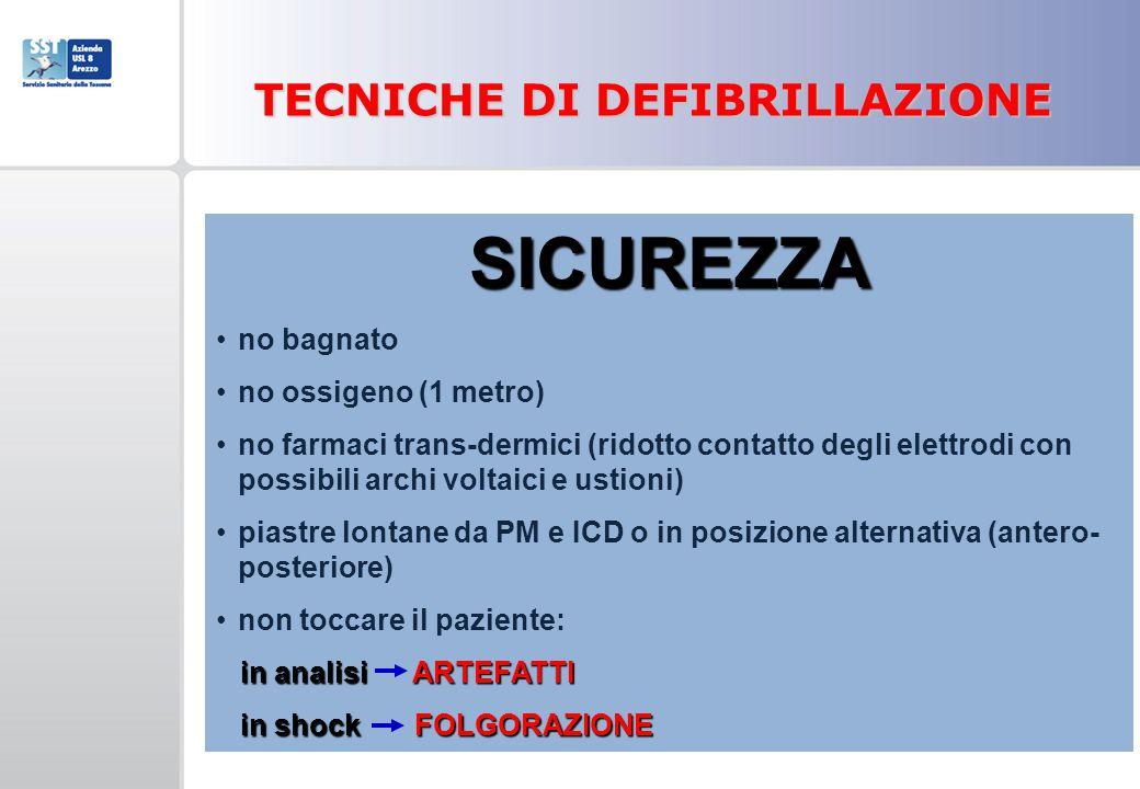 TECNICHE DI DEFIBRILLAZIONE