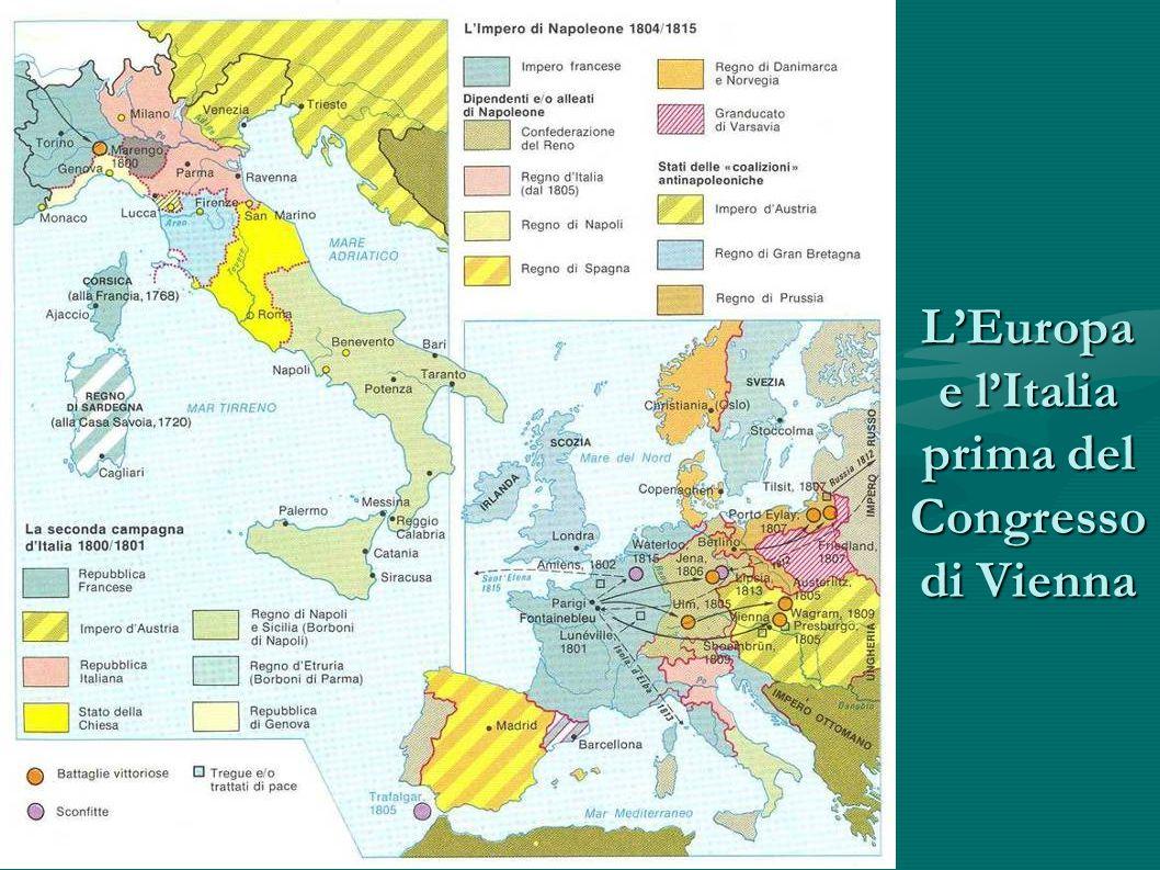L'Europa e l'Italia prima del Congresso di Vienna