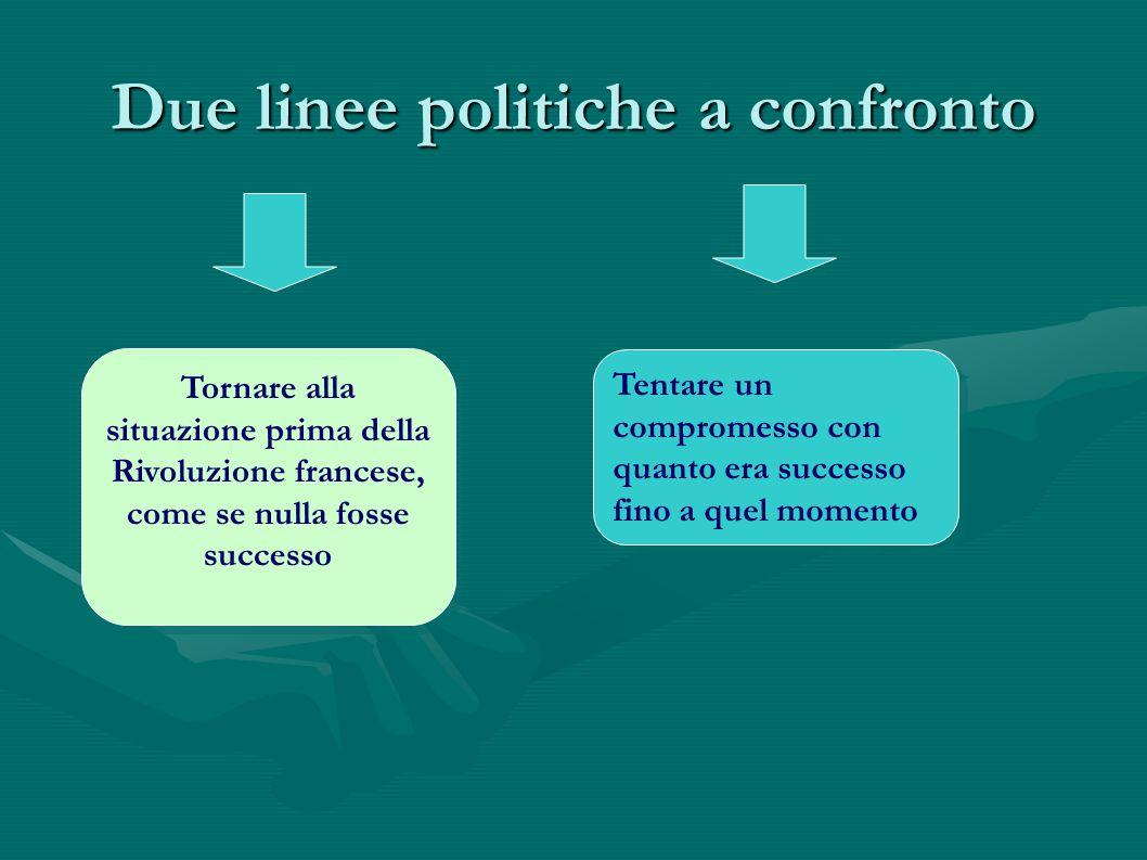Due linee politiche a confronto
