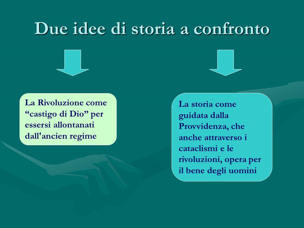 Due idee di storia a confronto