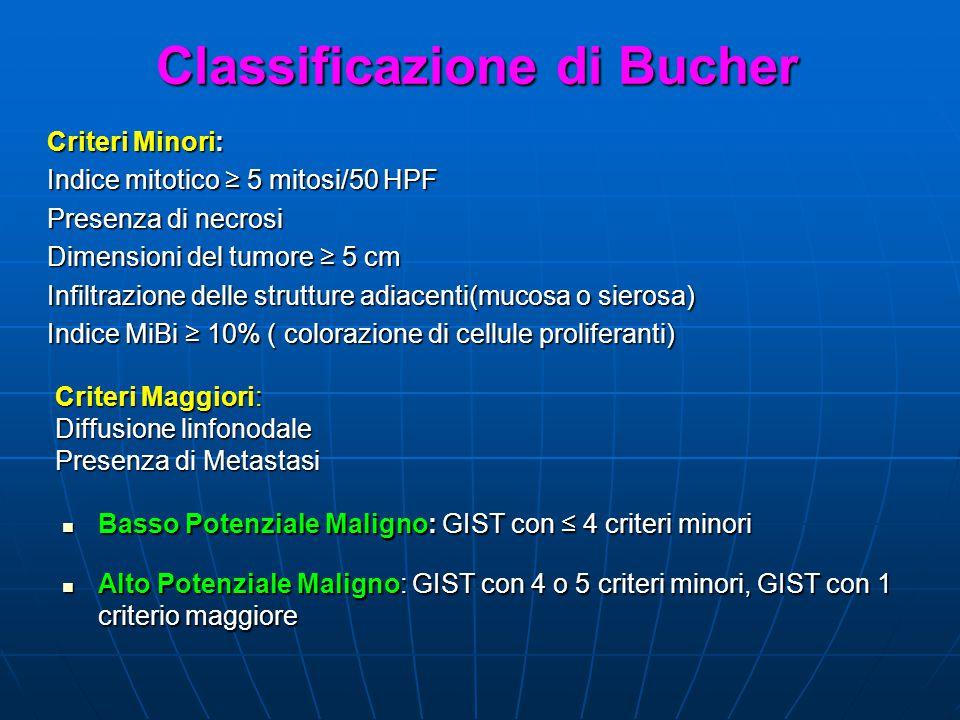 Classificazione di Bucher