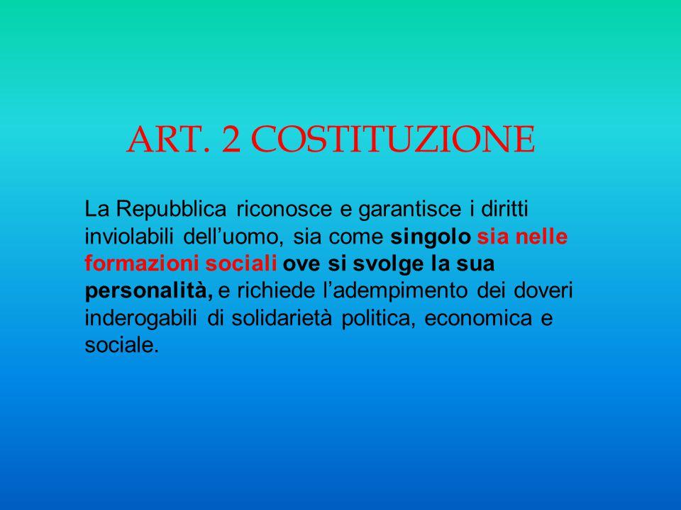 ART. 2 COSTITUZIONE