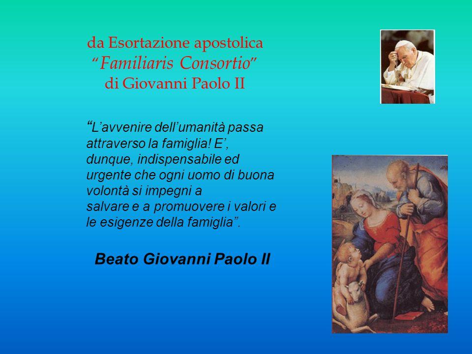 da Esortazione apostolica Familiaris Consortio di Giovanni Paolo II