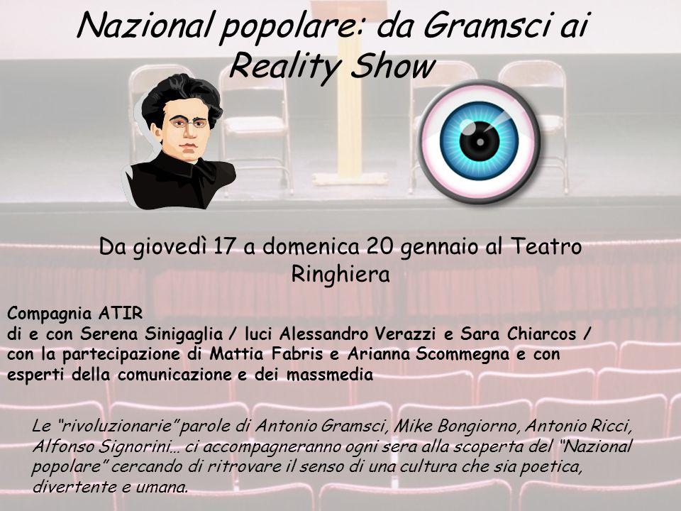 Nazional popolare: da Gramsci ai Reality Show