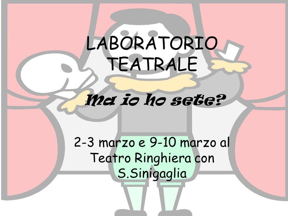 2-3 marzo e 9-10 marzo al Teatro Ringhiera con S.Sinigaglia