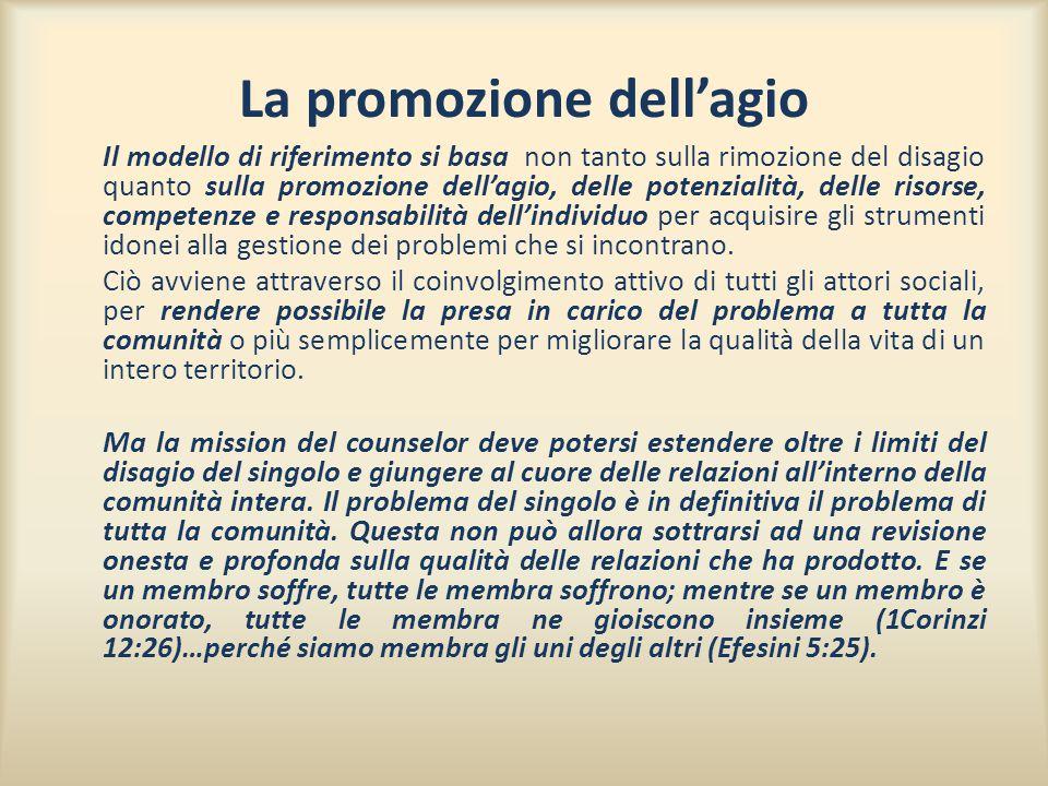 La promozione dell'agio