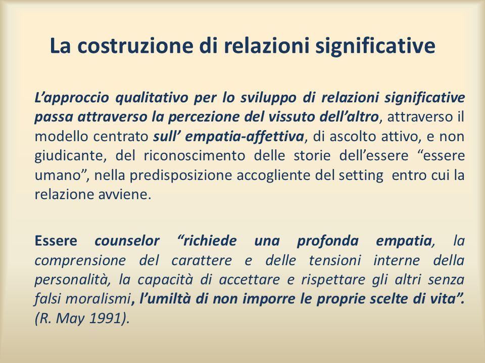 La costruzione di relazioni significative