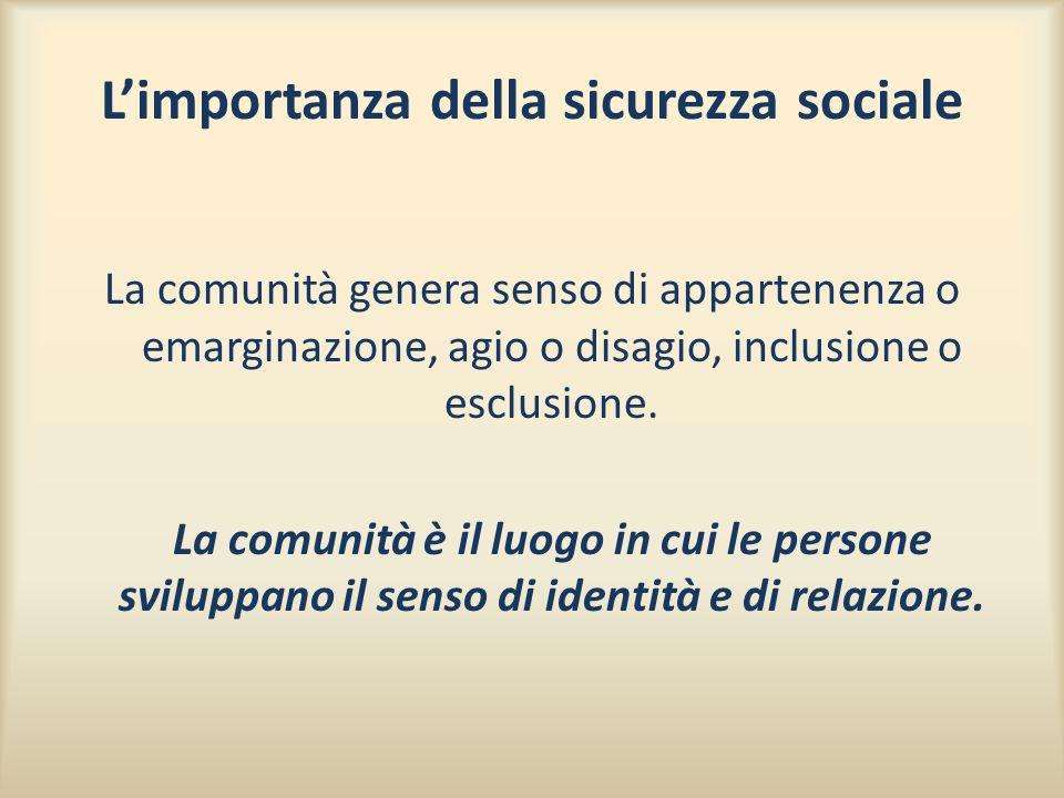 L'importanza della sicurezza sociale